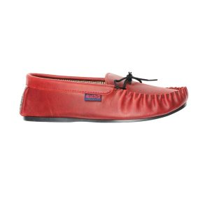 Dark red moccasins | Mabu Leathers