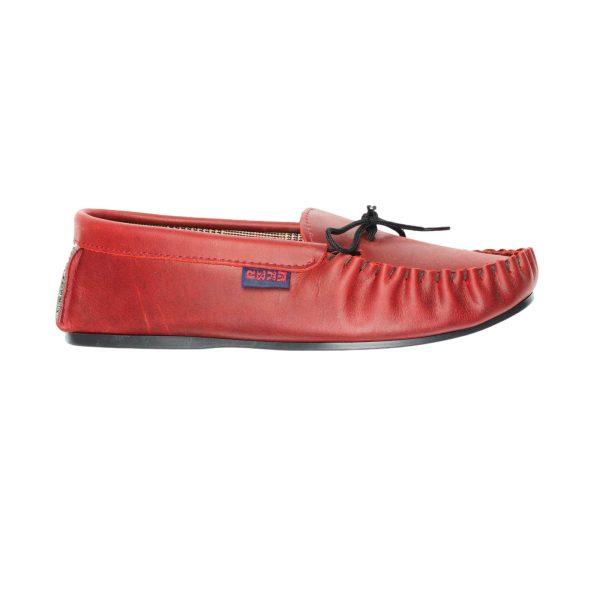 Dark red moccasins | Mabu Leathers