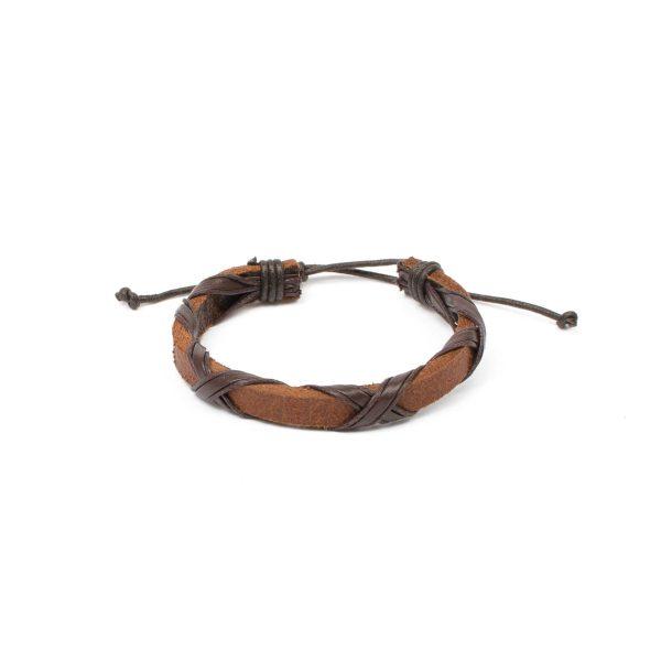 "Essentials: Men's ""autumn"" Leather Bracelet"