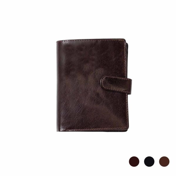 Modern tall Leather Wallet with Coin Holder