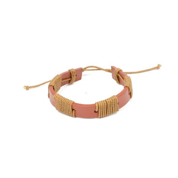 "Essentials: Men's ""Fisherman"" Leather Bracelet"