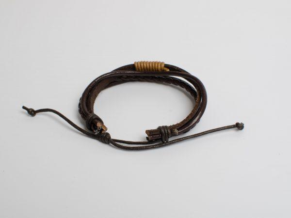 """Essentials: Men's """"Anchor"""" Leather Bracelet"""