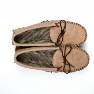 Mushroom Brown Leather Moccasins