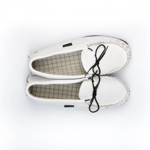 White Leather Moccasins