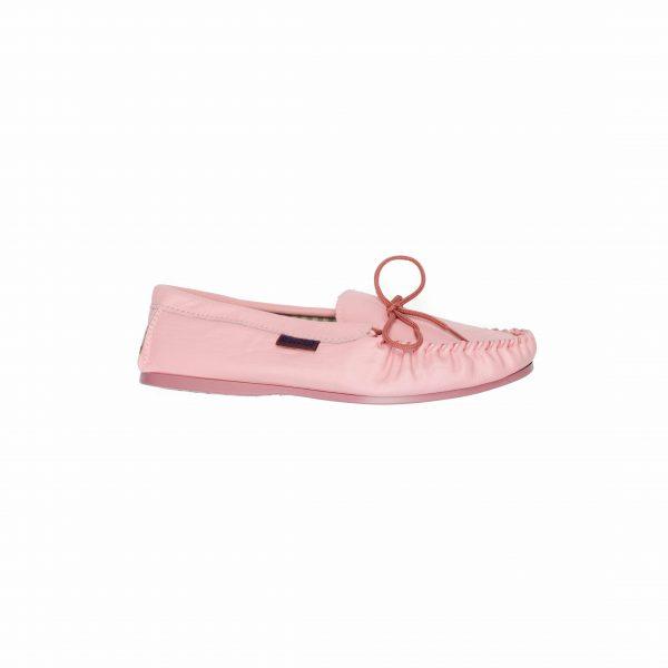 Pink Leather Moccasins | Mabu Leathers