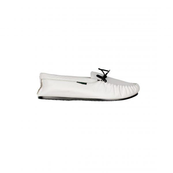 White Leather Moccasins | Mabu leathers