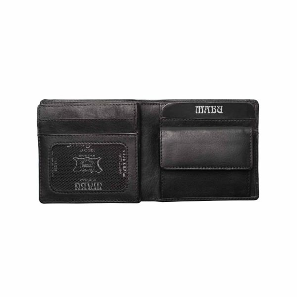 Men's leather wallet With Divider & Coin Holder (Classic)
