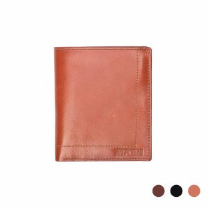 Men's leather wallet with coin holder
