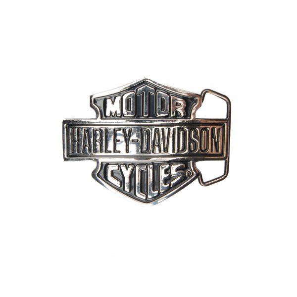 Harley-Davidson Silver/Black H302 Solid brass Belt Buckle