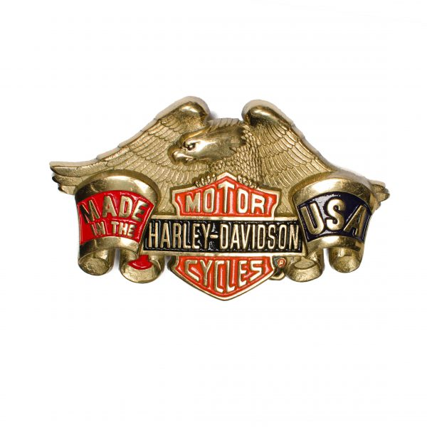 Harley-Davidson Made in the USA H503R Solid Brass Belt Buckle