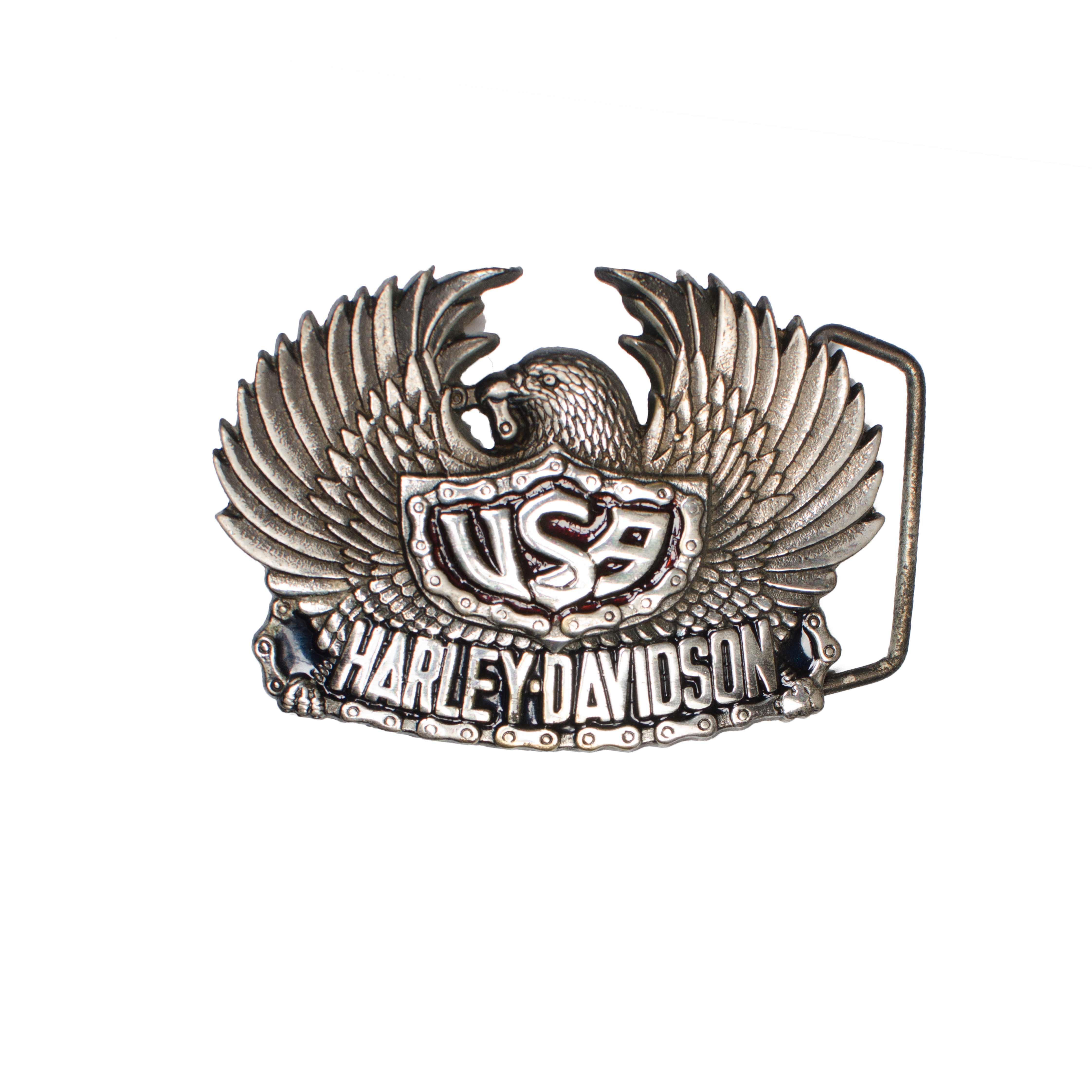 Harley-Davidson H504 USA Eagle Solid Brass Belt Buckle