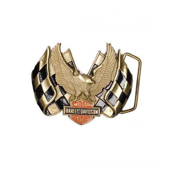 Harley Davidson USA Racing Flags H508 1983 BARON Solid Brass