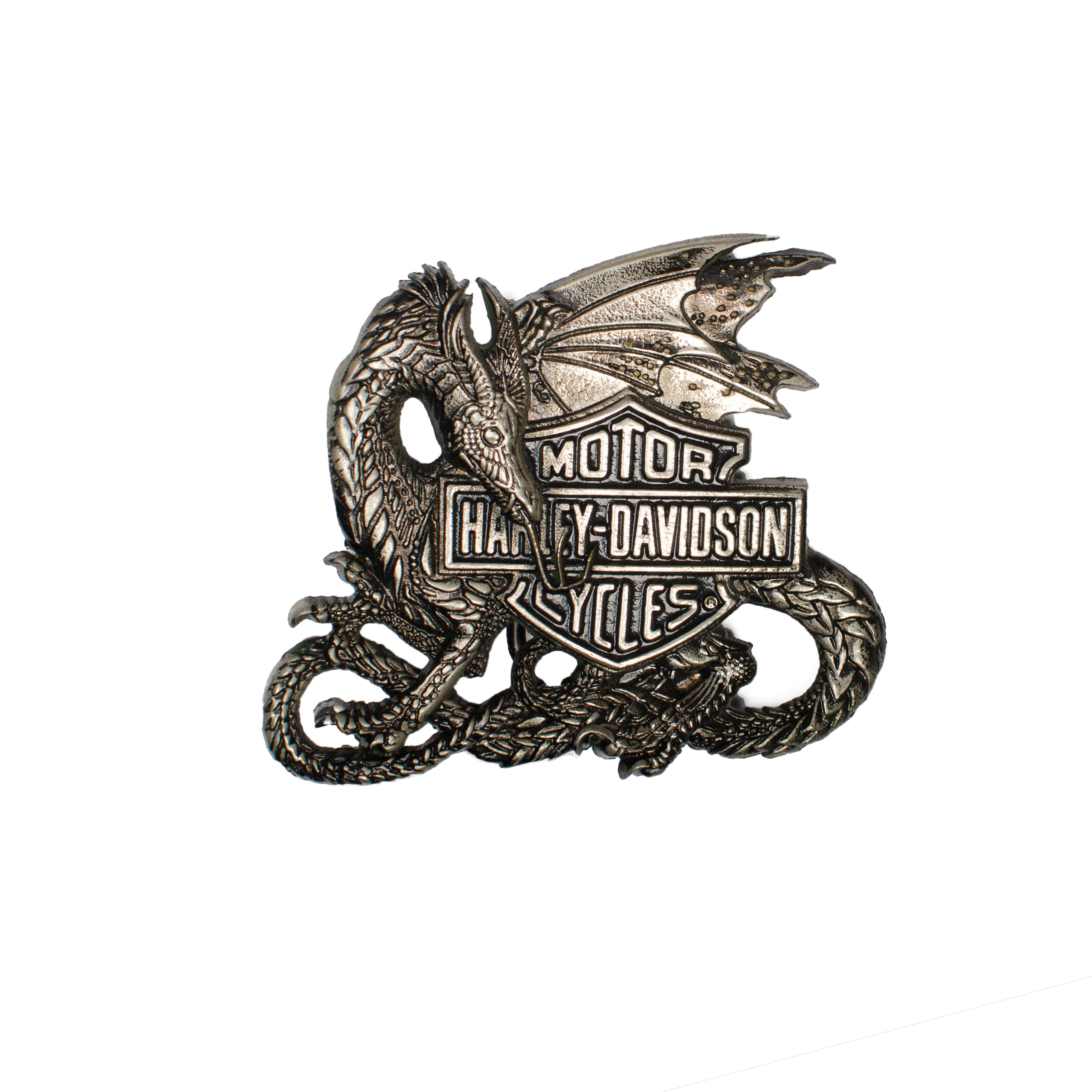 Harley Davidson Dragon Buckle H520 BARON 1983 Solid Brass