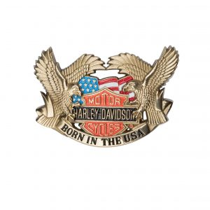 Harley Davidson Born In The USA H701 Solid Brass
