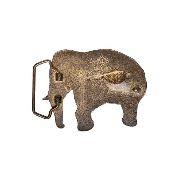 Elephant Buckle Vintage 1978 back