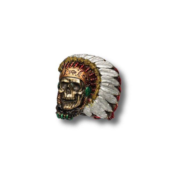 Indian Skull Buckle