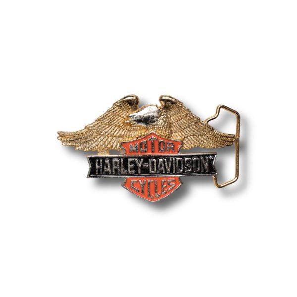 """Harley Davidson Belt Buckle - """"Motor Cycles"""" - H517 - Vintage"""